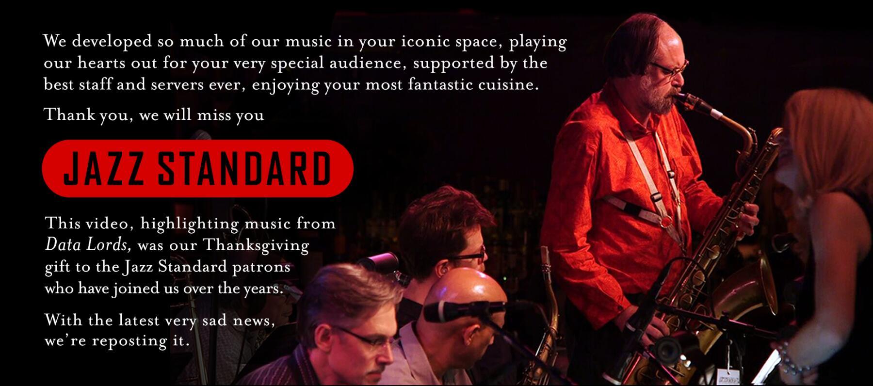 2020 Jazz Standard Announcement